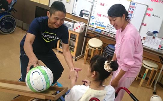 障害者施設での介護実習